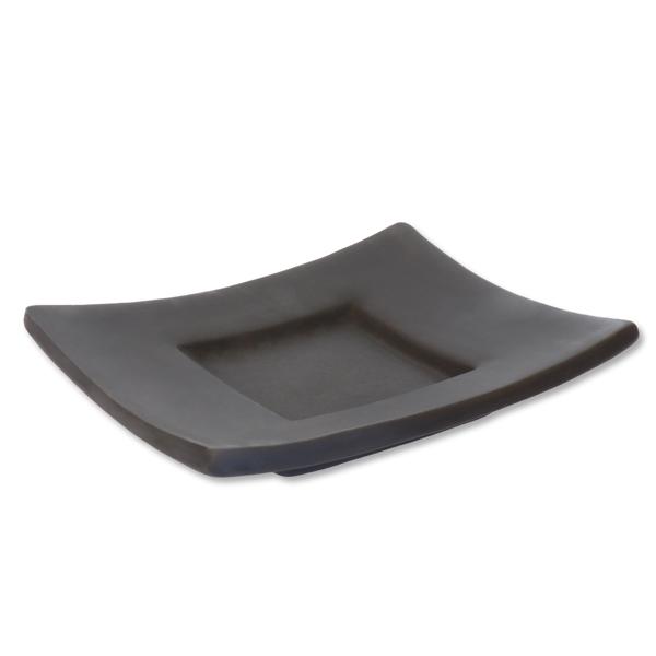 Seifenschale Keramik schwarz 13x11cm