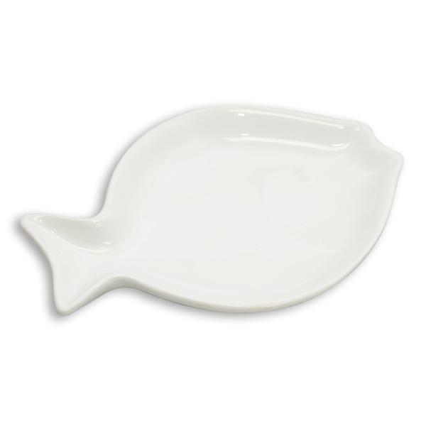 Seifenschale Keramik Fischform weiß 2te-Wahl-Artikel