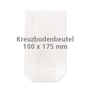 Cellophan-Kreuzbodenbeutel 100x175mm (100 Stück)