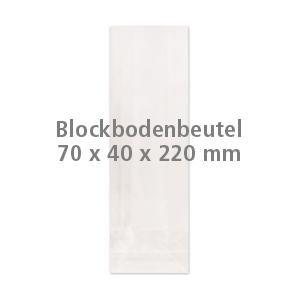 Cellophan-Blockbodenbeutel 70x40x220mm (100 Stück)