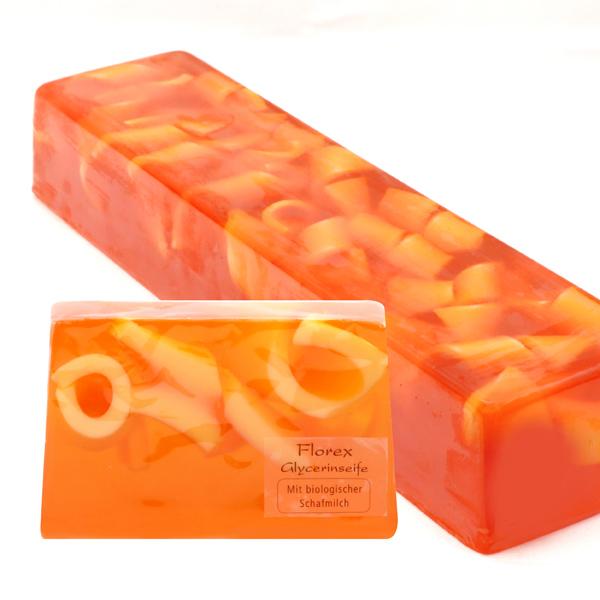 Handgemachte Glyzerin-Seife Strang ca. 1,80kg, Orange