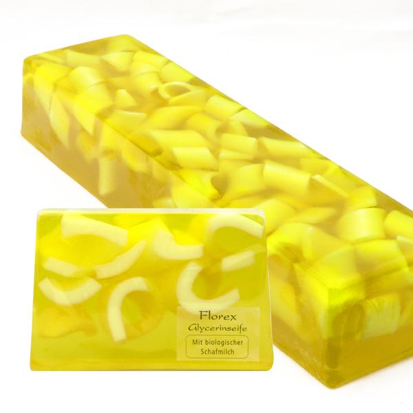 Handgemachte Glyzerin-Seife Strang ca. 1,80kg, Zitrone