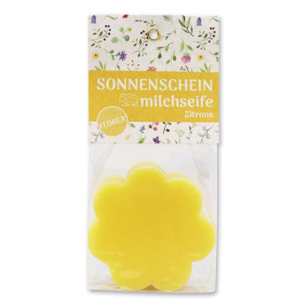 """Schafmilchseife Blume 115g in Cello """"Sonnenschein"""", Zitrone"""