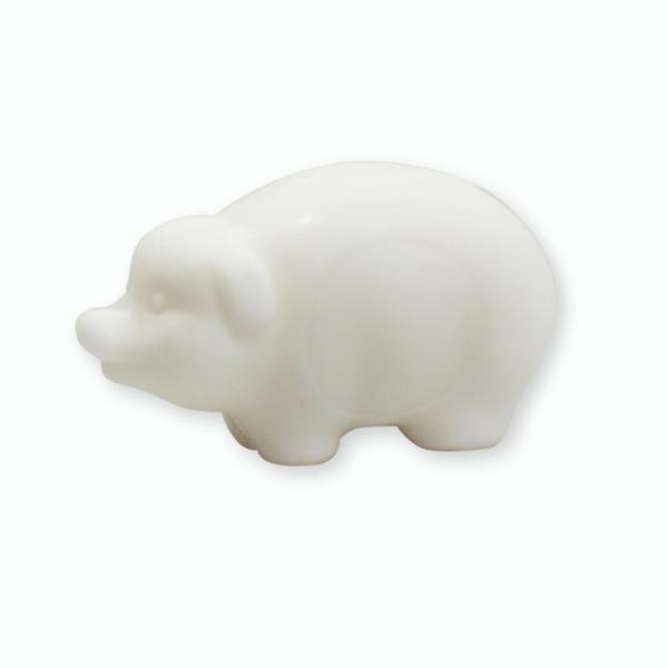 Pflanzenölseife Schwein 25g weiß (made in EU)