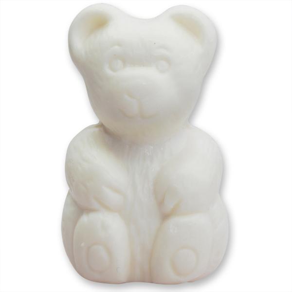 Pflanzenölseife Teddy groß 90g weiß (made in EU)