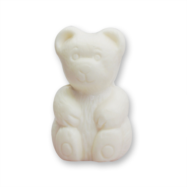 Pflanzenölseife Teddy klein 24g weiß (made in EU)