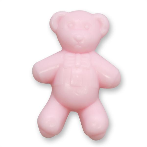 Pflanzenölseife Teddy flach 25g rosa (made in EU)