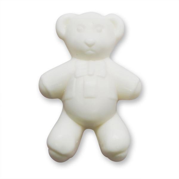 Pflanzenölseife Teddy flach 25g weiß (made in EU)