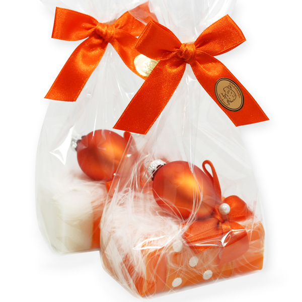 Sheep milk soap 100g, decorated with an easter egg in a cellophane, Classic/freesia