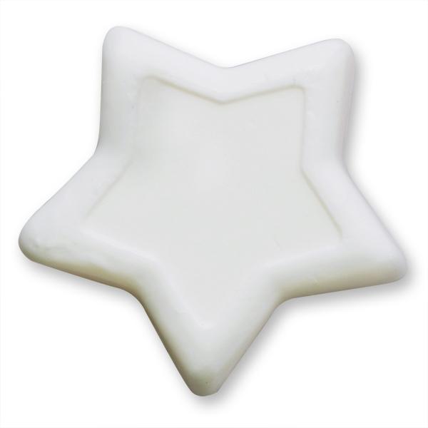 Pflanzenölseife Stern groß 90g weiß (made in EU)