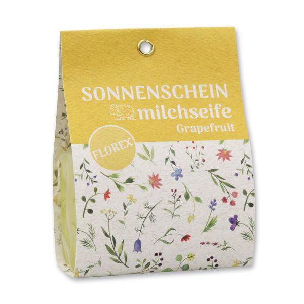 """Schafmilchseife eckig 100g in Tasche """"Sonnenschein"""", Grapefruit"""