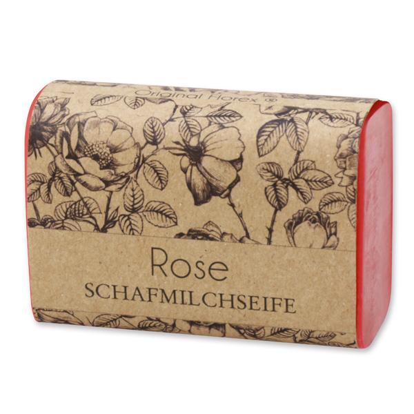 """Schafmilchseife eckig 100g """"blühendes Erwachen"""", Rose"""