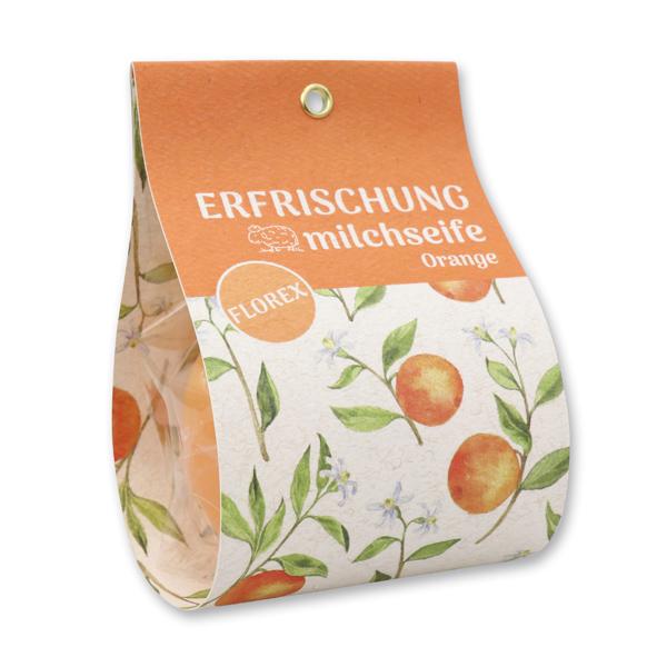 """Schafmilchseife Orange 140g in Tasche """"Erfrischung"""""""