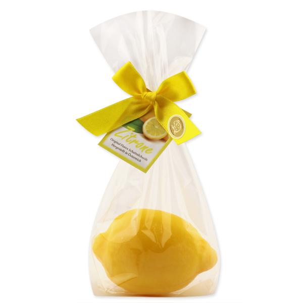 Schafmilchseife Zitrone 140g in Cello mit Karterl, Zitrone dunkel