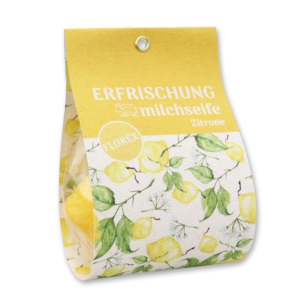 """Schafmilchseife Zitrone 140g dunkel in Tasche """"Erfrischung"""""""