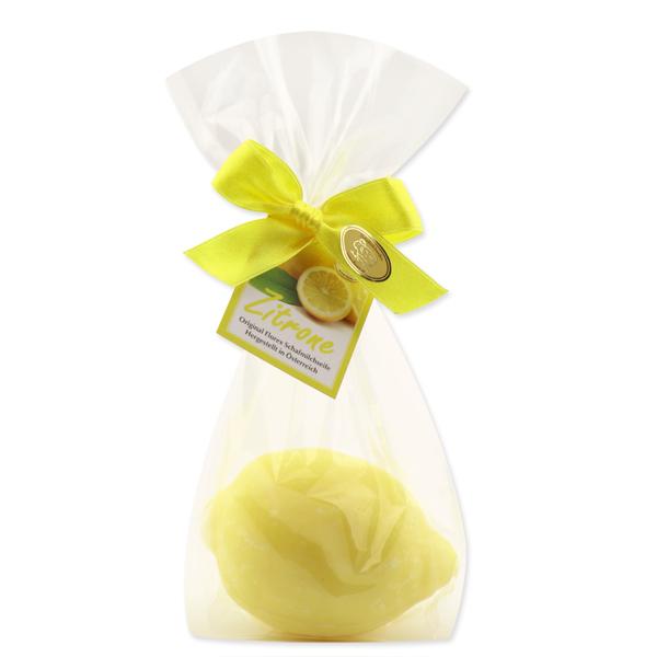 Schafmilchseife Zitrone 140g in Cello mit Karterl, Zitrone hell