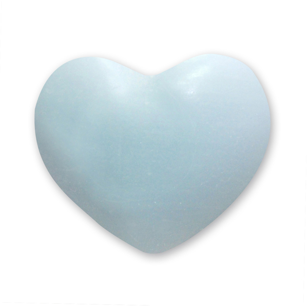 Sheep milk soap heart round 30g, Forget-me-not