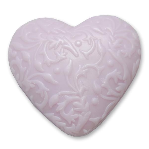 "Sheep milk soap heart ""Florex"" 80g, Lilac"