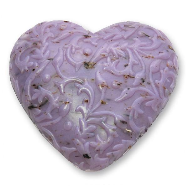 Schafmilchseife Herz Florex 80g, Lavendel