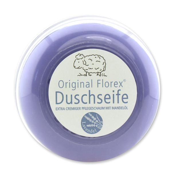 Duschseife mit Schafmilch rund 100g, in der Dose, Lavendel