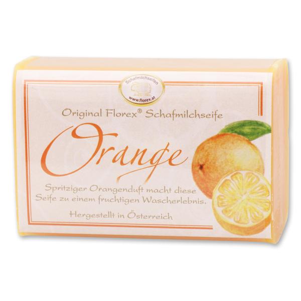 Schafmilchseife eckig 100g klassisch, Orange