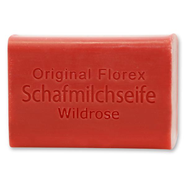 Schafmilchseife eckig 100g, Wildrose
