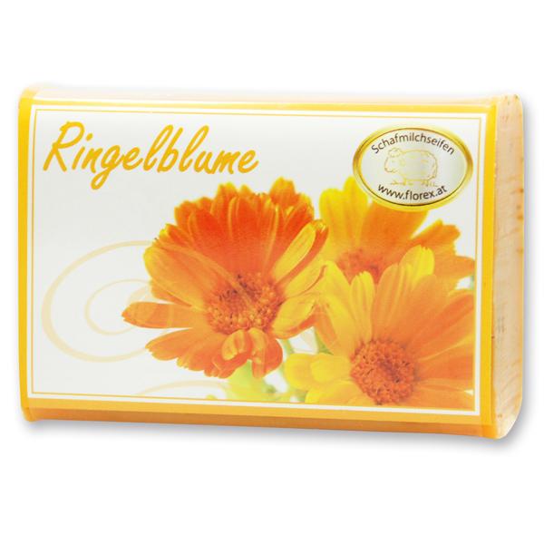 Schafmilchseife eckig 100g modern, Ringelblume
