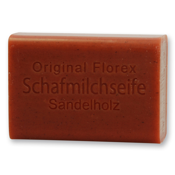 Schafmilchseife eckig 100g, Sandelholz