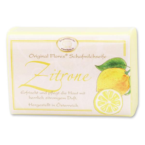 Schafmilchseife eckig 100g klassisch, Zitrone