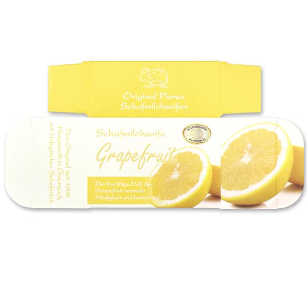 Papier-Schachtel MC für Schafmilchseife eckig 100g, Grapefruit