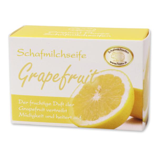Sheepmilk soap square 100g paper box, grapefruit