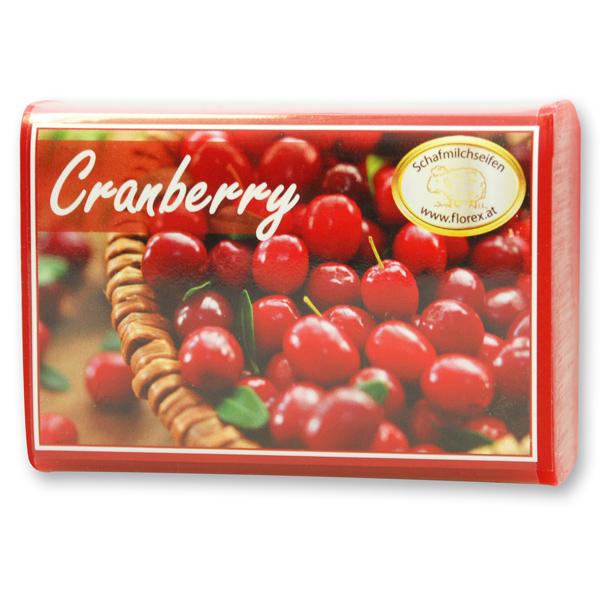 Schafmilchseife eckig 100g modern, Cranberry