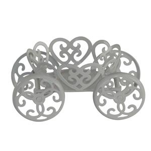 Cup Cake-Halter/Metall, 5x11x8cm  weiß
