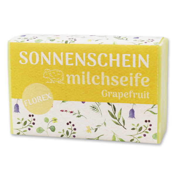 """Schafmilchseife eckig 150g """"Sonnenschein"""", Grapefruit"""