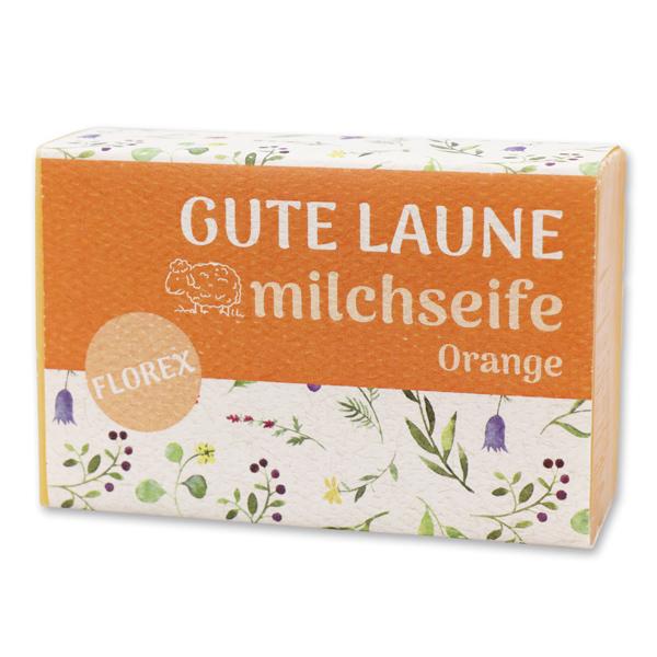 """Schafmilchseife eckig 150g """"Gute Laune"""", Orange"""