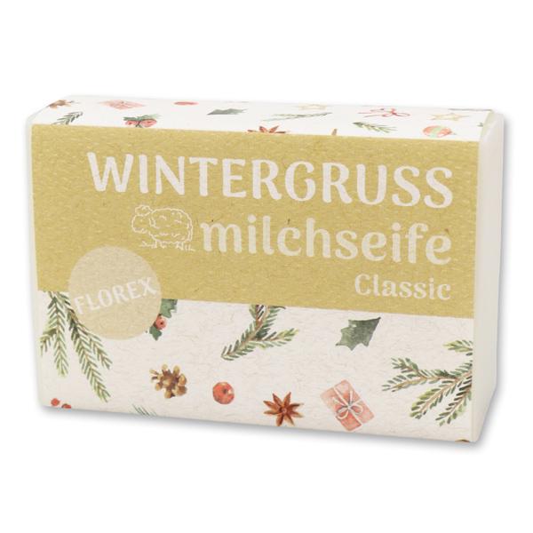 """Schafmilchseife eckig 150g """"Wintergruß"""", Classic"""