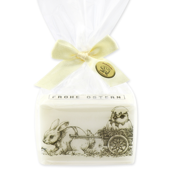 """Schafmilchseife eckig 150g """"Frohe Ostern"""" in Cello, Classic"""