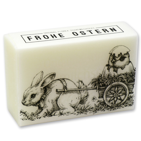 """Schafmilchseife eckig 150g """"Frohe Ostern"""", Classic"""