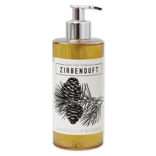 """Flüssigseife mit biologischer Schafmilch 400ml """"Zirbenduft"""", Zirbe"""
