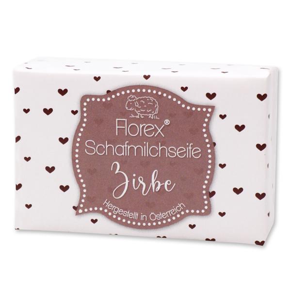 """Schafmilchseife eckig 150g """"lieblich"""", Zirbe"""