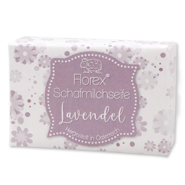 """Schafmilchseife eckig 150g """"lieblich"""", Lavendel"""