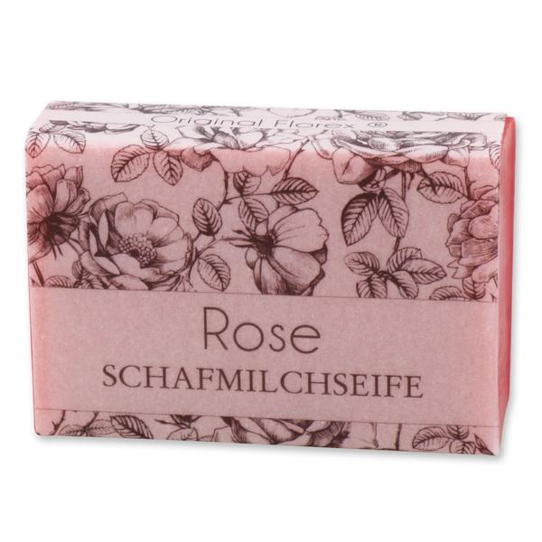 """Schafmilchseife eckig 150g """"blühendes Erwachen"""", Rose"""