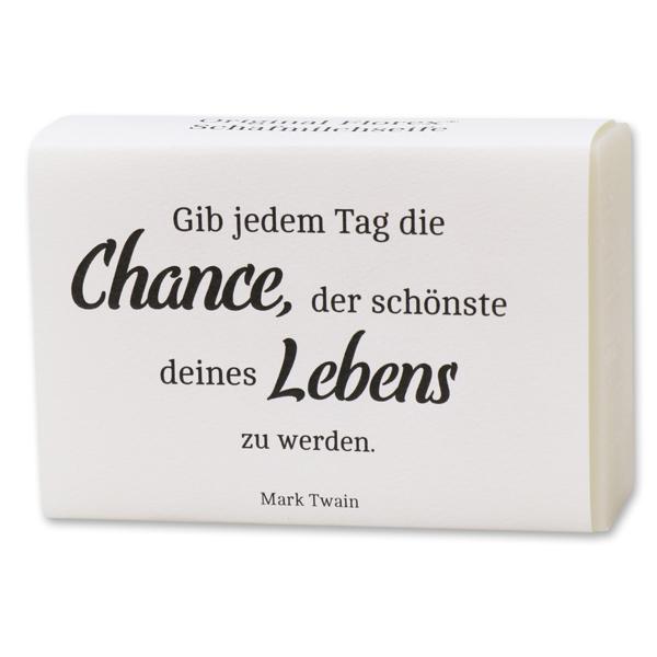 "Sheep milk soap 150g ""Gib jedem Tag die Chance..."", Classic"