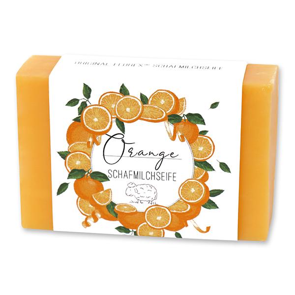 Schafmilchseife eckig 150g 'Einzigartige Augenblicke', Orange