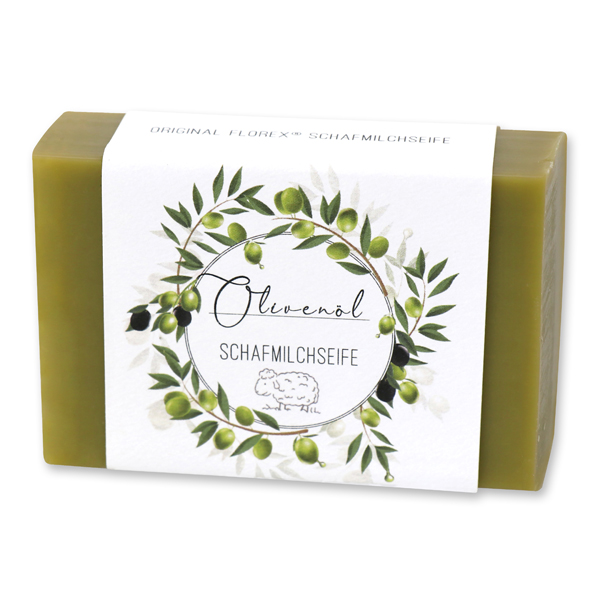 Schafmilchseife eckig 150g 'Einzigartige Augenblicke', Olivenöl