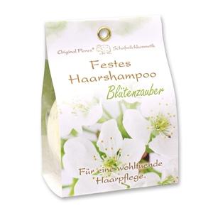 Festes Haarshampoo mit Schafmilch 58g in Papier-Tasche, Blütenzauber