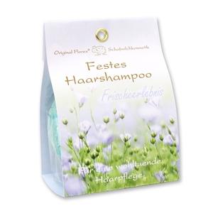Festes Haarshampoo mit Schafmilch 58g in Papier-Tasche, Frischeerlebnis