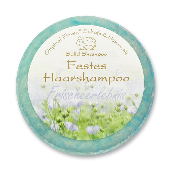 Solid hair shampoo with sheep milk 58g in cello, Discreet fresh
