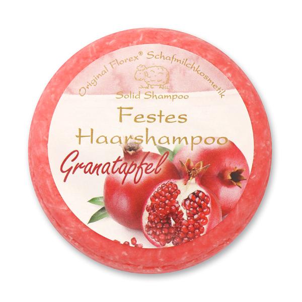 Festes Haarshampoo mit Schafmilch 58g in Folie, Granatapfel