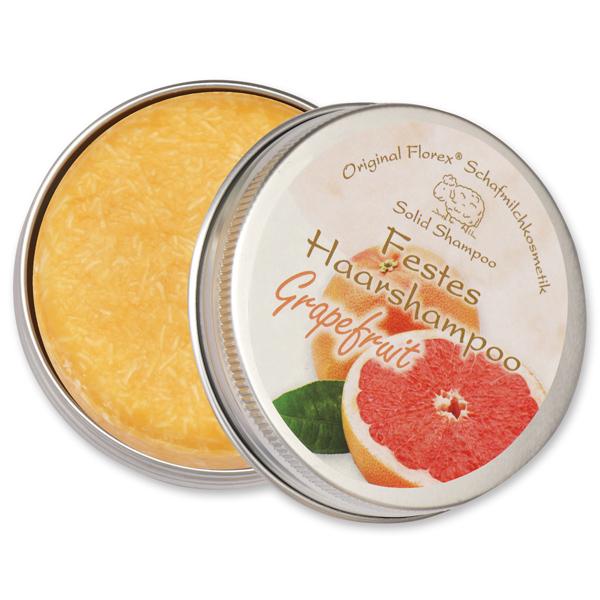 Festes Haarshampoo mit Schafmilch 58g in Dose, Grapefruit
